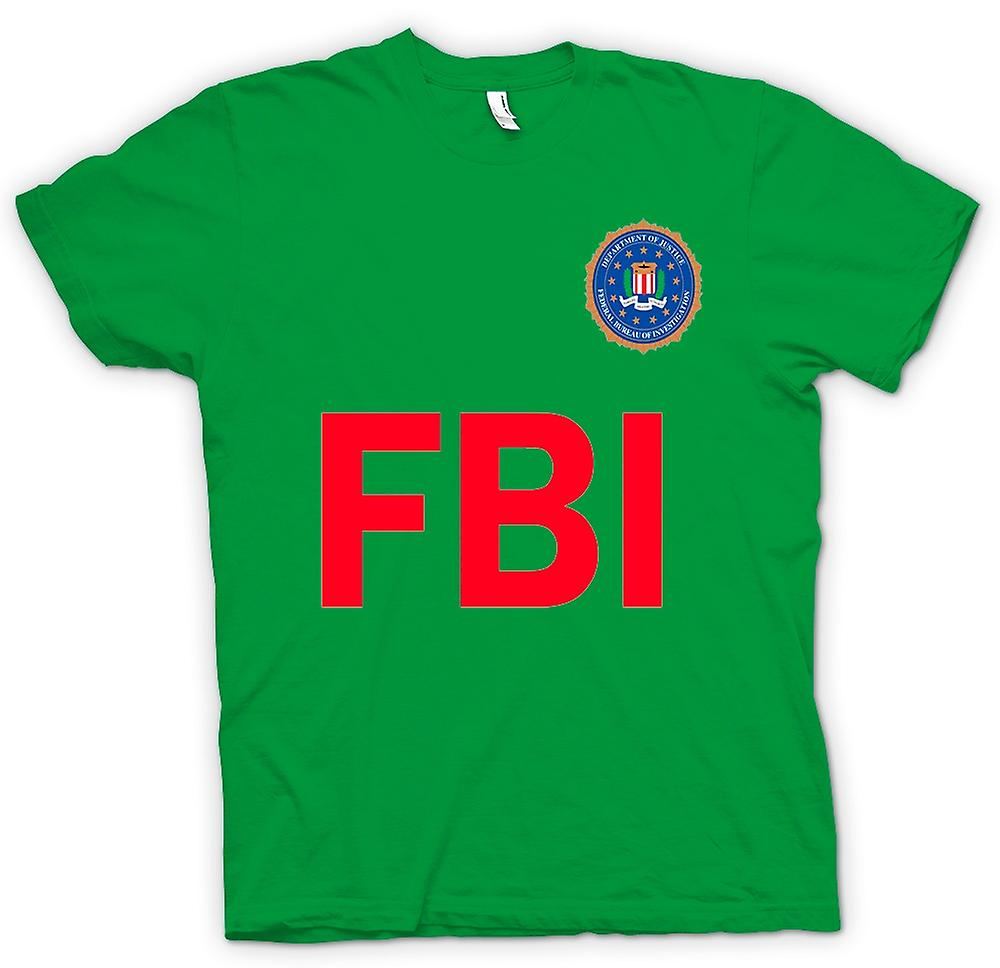 Mens T-shirt - FBI USA - Police