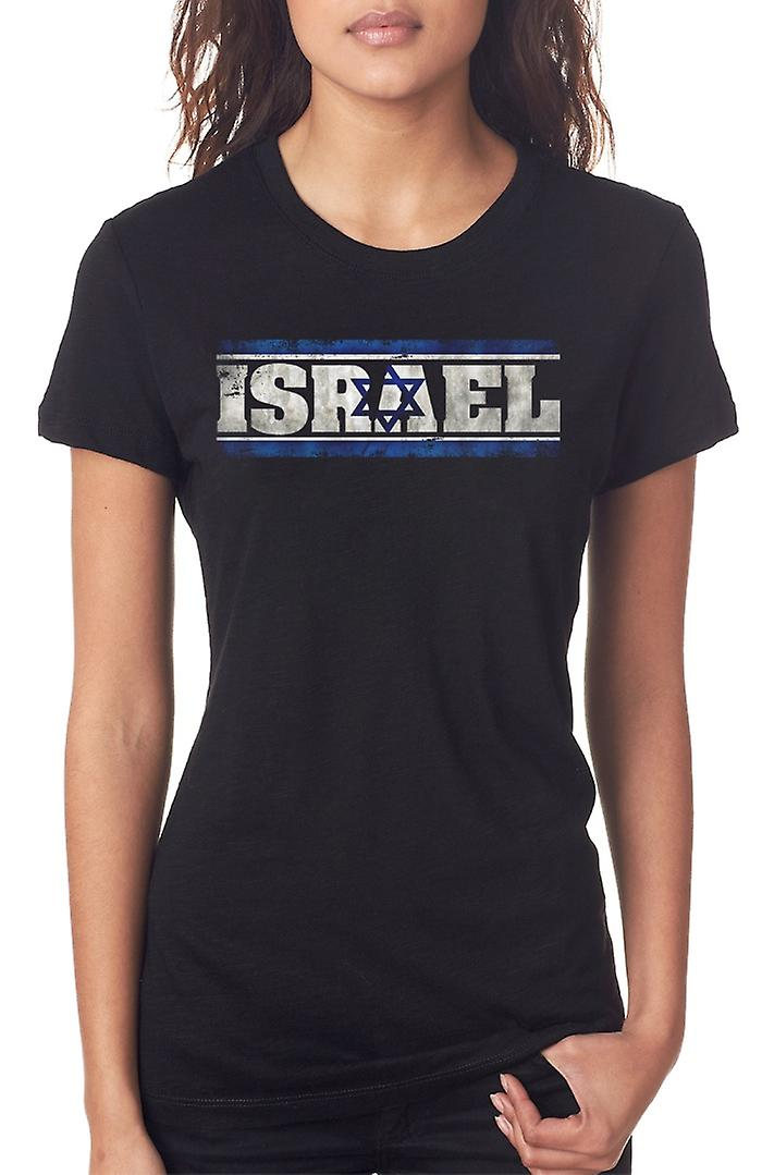 Isreali Isreal Flag - Words Ladies T Shirt