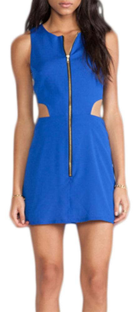 Waooh - Openwork Short dress with central zip Gola