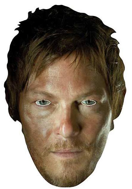 Daryl Dixon (Norman Reedus) l'ambulante morto partito carta a faccia in maschera