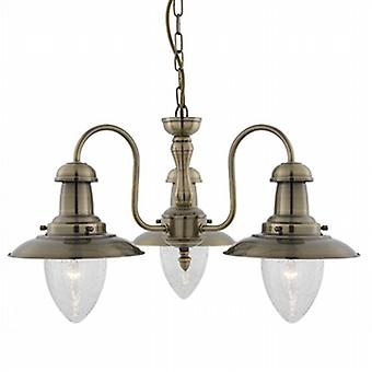 5333-3AB Fisherman Antique Brass 3 Light Pendant