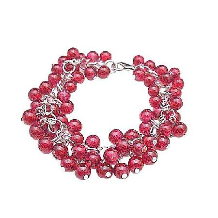 Fashionable Stylish Red Beads Bracelet