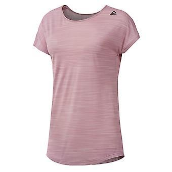 Reebok Workout Ready ACTIVChill Womens Ladies Fitness T-Shirt Tee Pink
