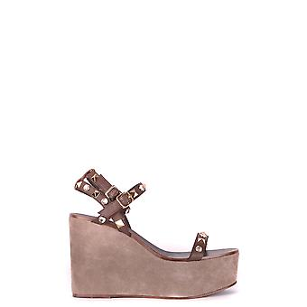 Ash Brown Leather Sandals