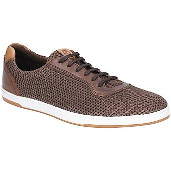 Base London Mens Hustle Mesh Lace Up Casual Trainers