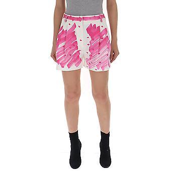 Pantalones cortos de algodón de Moschino blanco/rosa