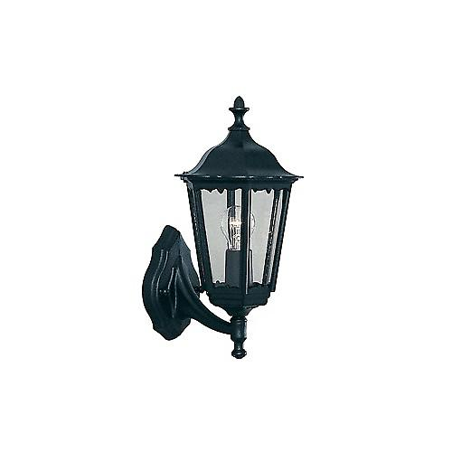Searchlight 82530BK Alex Traditional Black Outdoor Up Over Wall Light IP44