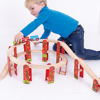 Bigjigs Rail Wooden High Level Track Expansion Pack Extension Compatible