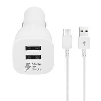 Samsung EP-LN920BW billader-dobbel USB + USB-C-kabel (1.5 m)