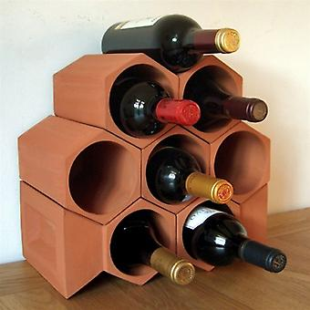 Terracotta Keystone Wine set of eight