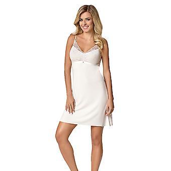 Nipplex Frauen Simone Milk Off-White bestickte Night Gown Loungewear Nightdress