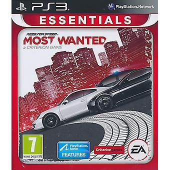 Need for Speed Most Wanted (2012) Essentials - Playstation 3