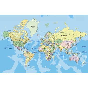 Wallpaper Mural World Map
