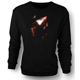 Womens Sweatshirt Iron Man 2 Triangle Arc - Superhero Ripped Design