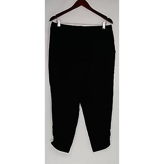 Anybody Women's Pants Loungewear Cozy Knit Slim Pull-on Black A307835
