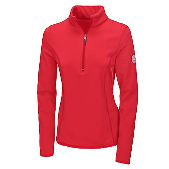 Pikeur Ines Womens 1/4 Zip Functional Shirt - Bright Red