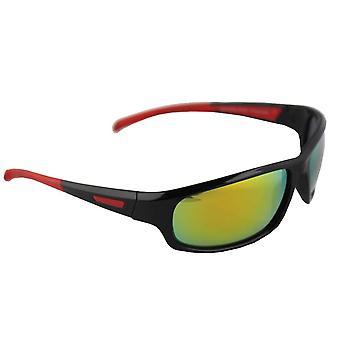 Sonnenbrille Sport Rechteck polarisierendes Glas schwarz gelb mehrfarbig FREE BrillenkokerS329_3