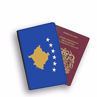 KOSOVO Flag Passport Holder Style Case Cover Protective Wallet Flags design