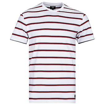 T-shirt blanc Edwin West Stripes