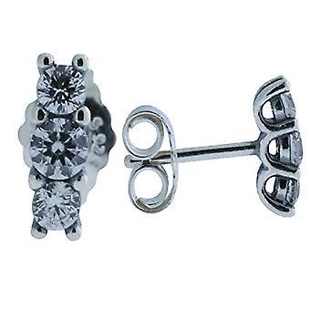 Pendientes de espárragos de mujer de plata Pandora - 290725CZ