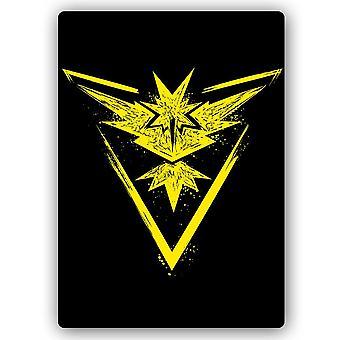 Metal Print, Yellow Phoenix