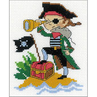 Brave Pirate Counted Cross Stitch Kit-5