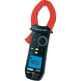 Current clamp, Handheld multimeter digital Chauvin Arnoux F401 Calibrated to: Manufacturer standards CAT IV 1000 V Disp