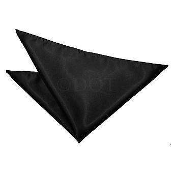 Black Plain Satin Handkerchief / Pocket Square
