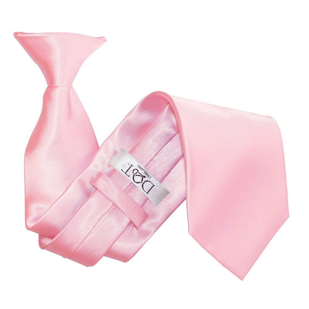 Baby Pink Plain Satin Clip On Tie