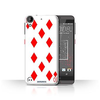 STUFF4 Case/Cover for HTC Desire 530/10 of Diamonds/Playing Cards