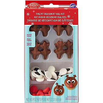 Treat Decorating Kit Makes 12-Rudolph The Red Nosed Reindeer W5916