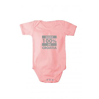 Baby body with shiny silver print made in Croatia