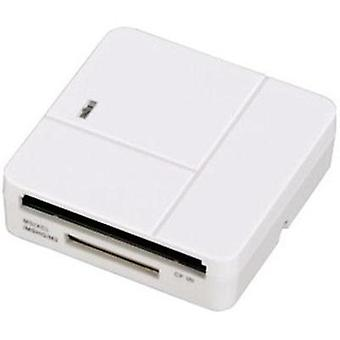 External memory card reader USB 2.0 Hama White
