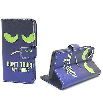 Mobile phone case pouch for mobile WIKO sunny dont touch my phone Green