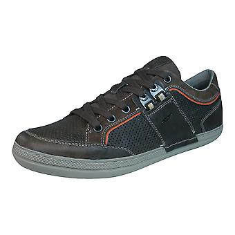 Geox U Box B Mens Leather Trainers / Shoes - Brown