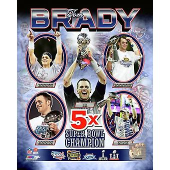 Tom Brady 5 Time Super Bowl Champion Photo Print