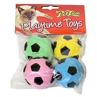 Petlove Sponge Footballs 4pack (Pack of 6)