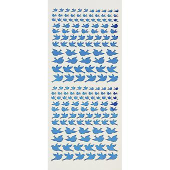 Dazzles Stickers-Jewel Bird Silhouette-Blue DAZ-2586