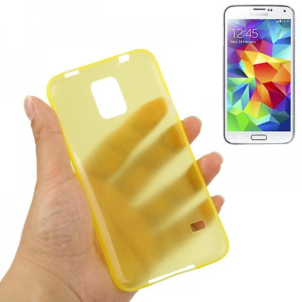 Hard case yellow glossy ultra thin case for Samsung Galaxy S5 mini