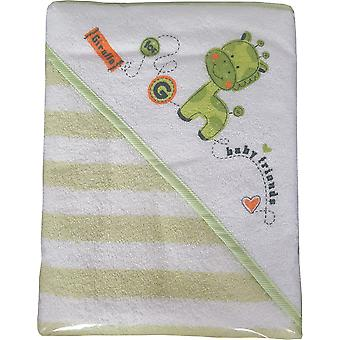 BlueberryShop LUXURY WARM EXTRA LARGE, HUGE HOODED Printed BATH TOWEL Baby Kid Todler 100 x 100 cm (39.5