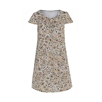Floral Beige Linen Dress DR903-18