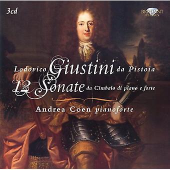 Andrea Coen - Lodovico Giustini Da Pistoia: 12 Sonate Da Cimbalo Di Piano E Forte [CD] USA importeren