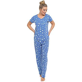 Ladies Tom Franks Summer Fun Print Short Sleeve Pyjama Set pajama Sleepwear