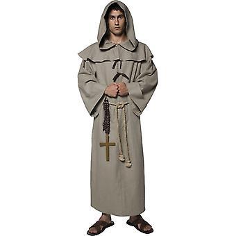 Munken kostyme deluxe bror brette Robin Hood 3-munk munken kostyme størrelse M
