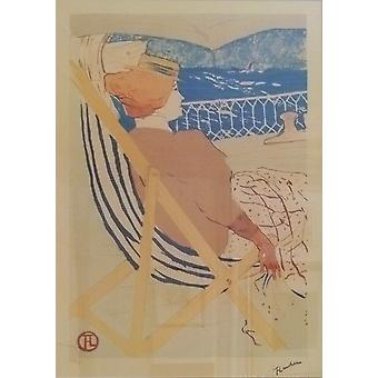 Henri Toulouse Lautrec - The Beach Poster Print Giclee