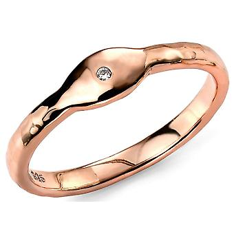 925 Silver Rose Gold Plated Zirconia Ring Trend And