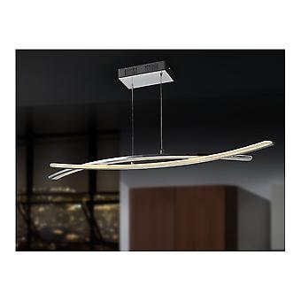 Schuller Linur LED Chrome Ceiling Bars Pendant
