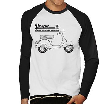 Haynes ejere Workshop Manual Vespa mænds Baseball langærmet T-Shirt
