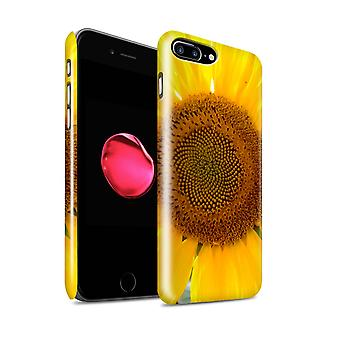 STUFF4 Glanz zurück Snap-On Handy Hardcase für Apple iPhone 7 Plus / Sunflower Design / Floral Garden-Blumen-Collection