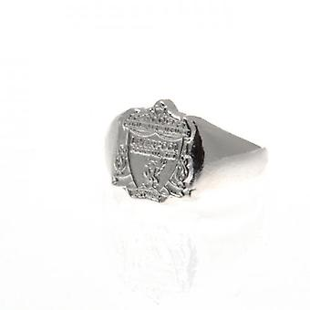 Liverpool Silver Plated Crest Ring Medium